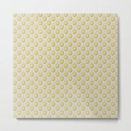 Brown & Green Kiwi Slices Pattern Metal Print