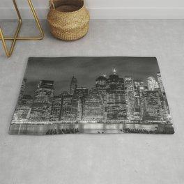 NEW YORK CITY Night Skyline | Panoramic Rug
