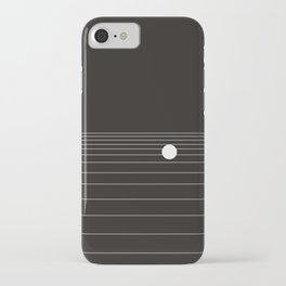 Calm water Lake Moon Minimal iPhone Case