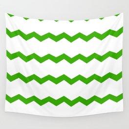 Green Chevron Wall Tapestry