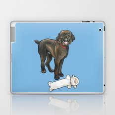 Milo the Poodle with his Monkey Laptop & iPad Skin