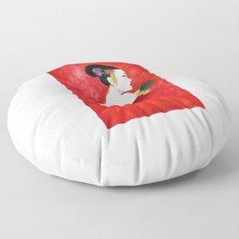 Red Wall Geisha Floor Pillow