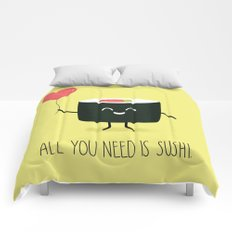 All you need is sushi Comforters