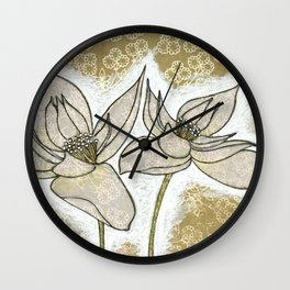 Two Hellebore Wall Clock