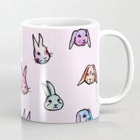 rabbits Mugs featuring Rabbits by Darish