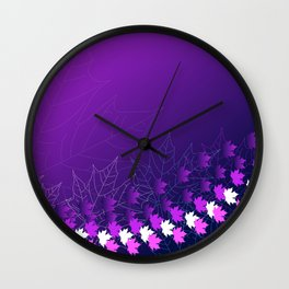 Purple and pink autumn Wall Clock