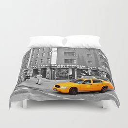 NYC Yellow Cabs Bagel Cafe - USA Duvet Cover