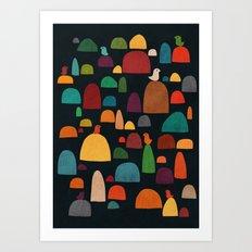 The zen garden Art Print