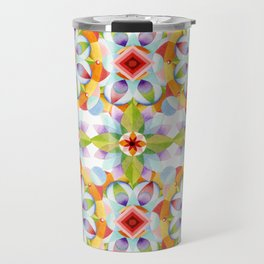 Flower Garden Kaleidoscope Travel Mug