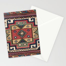 Cowboy Sumakh // 19th Century Colorful Red White Blue Western Lone Star Dallas Ornate Accent Pattern Stationery Cards