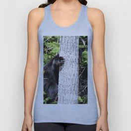 Baby Bear in a Tree Unisex Tank Top