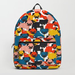 COLORED PUGS PATTERN no2 Backpack