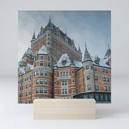 Canada Photography - Fairmont Le Château Frontenac In The Winter Mini Art Print