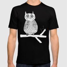 Give A Hoot MEDIUM Mens Fitted Tee Black
