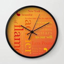 New York Typography Lg-C Wall Clock