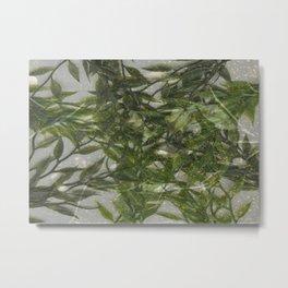 Glitter & Greens Metal Print