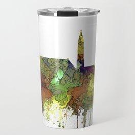 Cheyenne Wyoming Skyline-Safari Buf Travel Mug