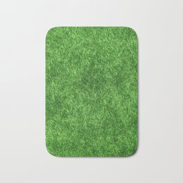 Green Grass Background Bath Mat
