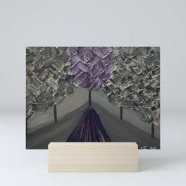 Tree of Color Amidst the Black (Violet Purple) Mini Art Print