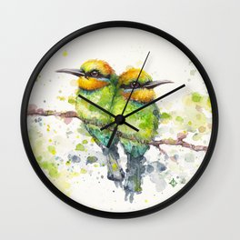 Family (Rainbow Bee Eaters) Wall Clock