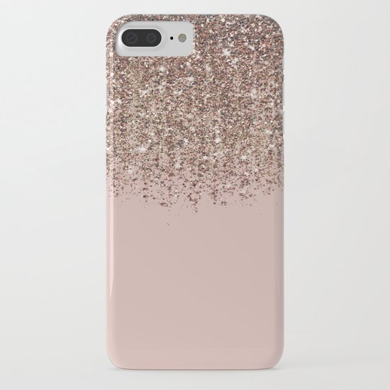 Blush Pink Rose Gold Bronze Cascading Glitter by christyne