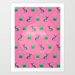 Sprouts and Hares. Art Print