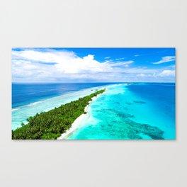 Palm Island Tropical Paradise Canvas Print