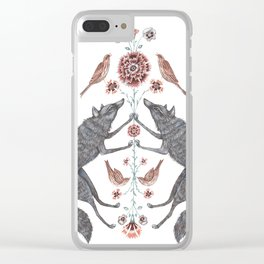Wolves and Sparrows Clear iPhone Case