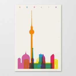Shapes of Berlin accurate to scale Canvas Print