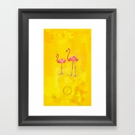 Flamants roses Framed Art Print