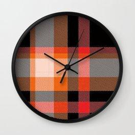 Rad Plaid Wall Clock