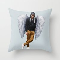 zayn Throw Pillows featuring Zayn by gutsngore