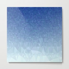 Blue Ombre - Flipped Metal Print