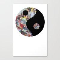 caitlin hackett Canvas Prints featuring Caitlin Yin Yang by SFrancis