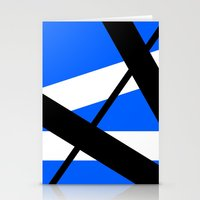 bands Stationery Cards featuring Bands 1 Retro stripes by Brian Raggatt