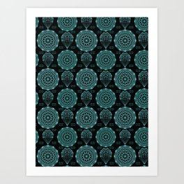 Geometrical crystal mandala Art Print
