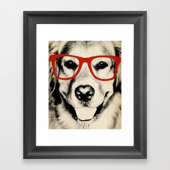 NERDY DOG Framed Art Print
