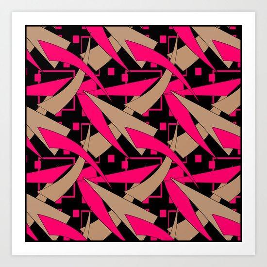 Creative abstract pattern . Geometric shapes .4 Art Print