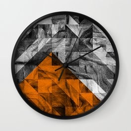 STONE STONE ORANGE Wall Clock