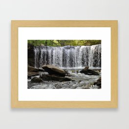 Out from the Curtain Framed Art Print