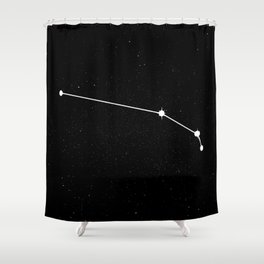 ARIES (BLACK & WHITE) Shower Curtain