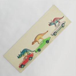 Dinosaurs Ride Cars Yoga Mat