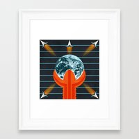 dune Framed Art Prints featuring Dune by milanova