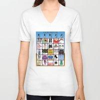 coachella V-neck T-shirts featuring Coachella BINGO Board by Highly Anticipated