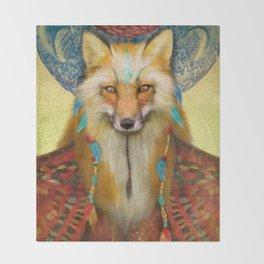 Wise Fox Throw Blanket