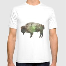 Surreal Buffalo MEDIUM White Mens Fitted Tee