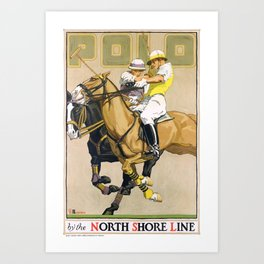 1923 Polo By The North Shore Line Transit Poster Art Print