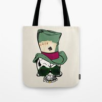 poker Tote Bags featuring Poker Face by Ewan Arnolda