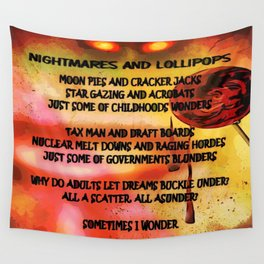 NIGHTMARES AND LOLLIPOPS - 114 Wall Tapestry