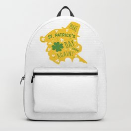 Make St Patrick's Day Great Again Backpack